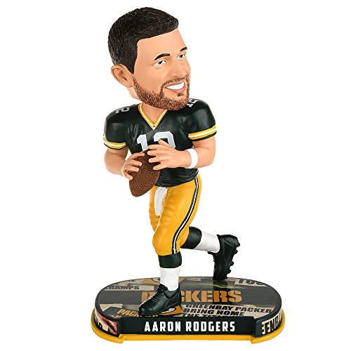Forever Collectibles NFL Green Bay Packers Mens Green Bay Packers Bobble Headline Style Aaron Rodgers Designgreen Bay Packers Bobble Headline Style Aaron Rodgers Design, Team Colors, One Size
