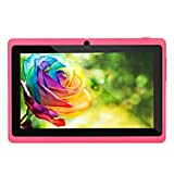 7Inches Tablet PC HD Touchscreen Mic WIFI Android 4.4 Octa Core Quad Core Tablet PC 1GB + 8GB Dual Camera Wifi ,Support Games, Skype ,MSN ,Facebook, Twitter, etc (Red)