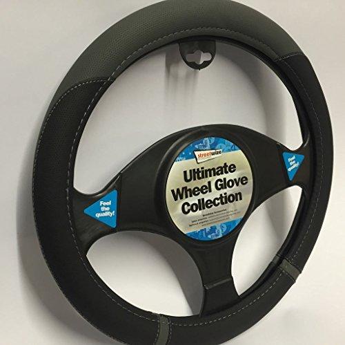 Peugeot RCZ Black & Grey Steering Wheel Cover Glove 37cm: