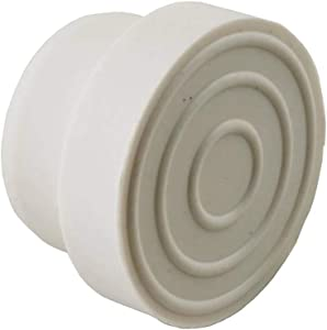 Set of 2 White Swimming Pool Ladder Inside Bumper Plug Fittings for Handrails 2.25""