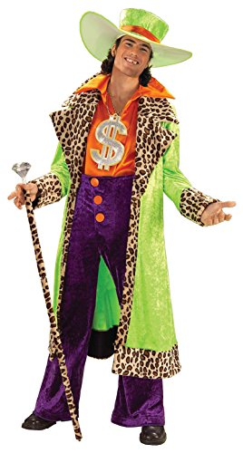Forum Novelties Men's Plus-Size Biggest Daddy Pimp Costume, Multi, - Pimp Daddy Necklace