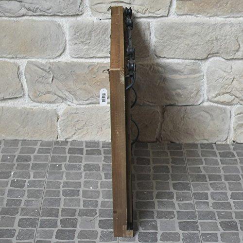 Miroir Industriel Campagne Fen/être /à Volets Coulissants Bois et Fer 80x65 cm