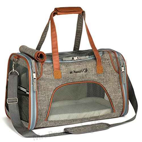 Carrier Dog Tote Pet (Airline Approved Soft Sided Pet Carrier, Low Profile Travel Tote with Fleece Bedding, Premium Zippers & Metal Safety Clasp, Under Seat Compatibility, Perfect for Cats and Small Dogs)