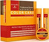 Advanced Color Care Sulfate Free Shampoo and Conditioner Set for Color Treated Hair with Argan Oil and Macadamia Oil By Arvazallia - Shampoo, Conditioner, and Deep Conditioner Hair Mask