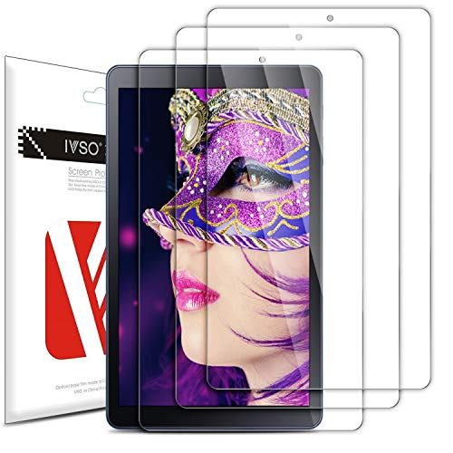 Luibor Samsung Galaxy TAB A 8.0 2018 T387 Screen Protector High Definition Crystal Clear Shield for Samsung Galaxy TAB A 8.0 2018 T387 Tablet (3 Pack)