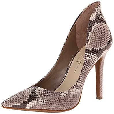 Jessica Simpson Women's Cambredge Dress Pump, Taupe Combo, 5 M US