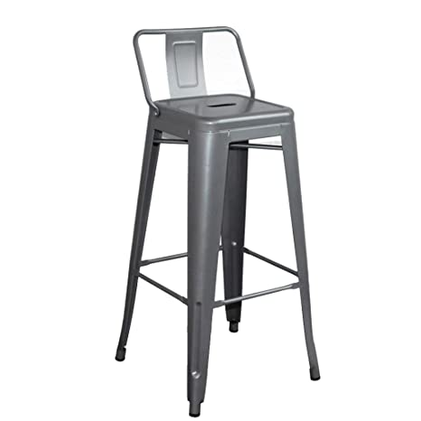Fine Amazon Com Shi Xiang Shop Metal Bar Stools With Back Alphanode Cool Chair Designs And Ideas Alphanodeonline