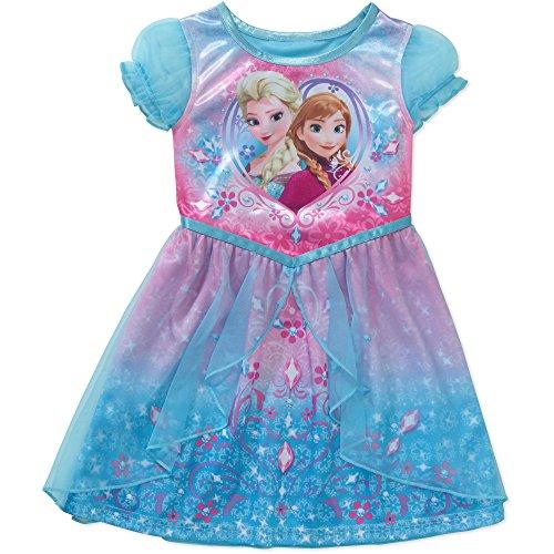 Disney Frozen Baby Toddler Girl Short Sleeve Fantasy Nightgown (3T) (Disney Frozen Gowns)