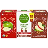 Simple Truth Organic Applesauce Pouches Variety Pack (6 Unsweetened & 6 Cinnamon) 12 Ct (Pack of 2)