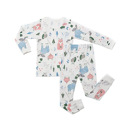 OllCHAENGi Little Boys Girls Kids Cotton Pajama Sleepwear Set Long Sleeve 18M-12Y Fox (110)