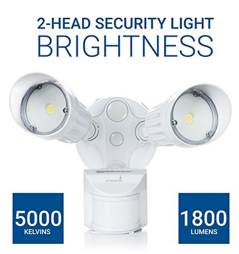 Hyperikon Led Security Light With Motion Sensor White 20w