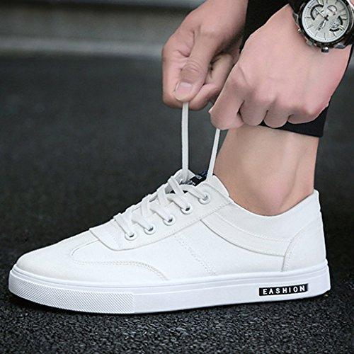 Ocasionales Blanco Los Zapatos 40 Color Hombres Size Lona Transpirables Coreano Red Nuevos De Estilo qF0OAW0Tn