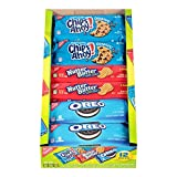 Nabisco Variety Cookies Mix with Oreo, Chips Ahoy! and Nutter Butter Full-Size, 12 Count Individual Snack Packs, Box of 4