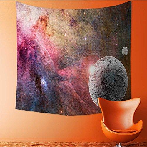Nalahomeqq - Tapiz de decoración del espacio exterior personalizable de Frozen Planet en un campo de estrella con niebla...