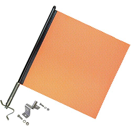 Economy Replacement Flags - Heavy Duty Spring Warning Flag Kit with Universal Mounting Bracket