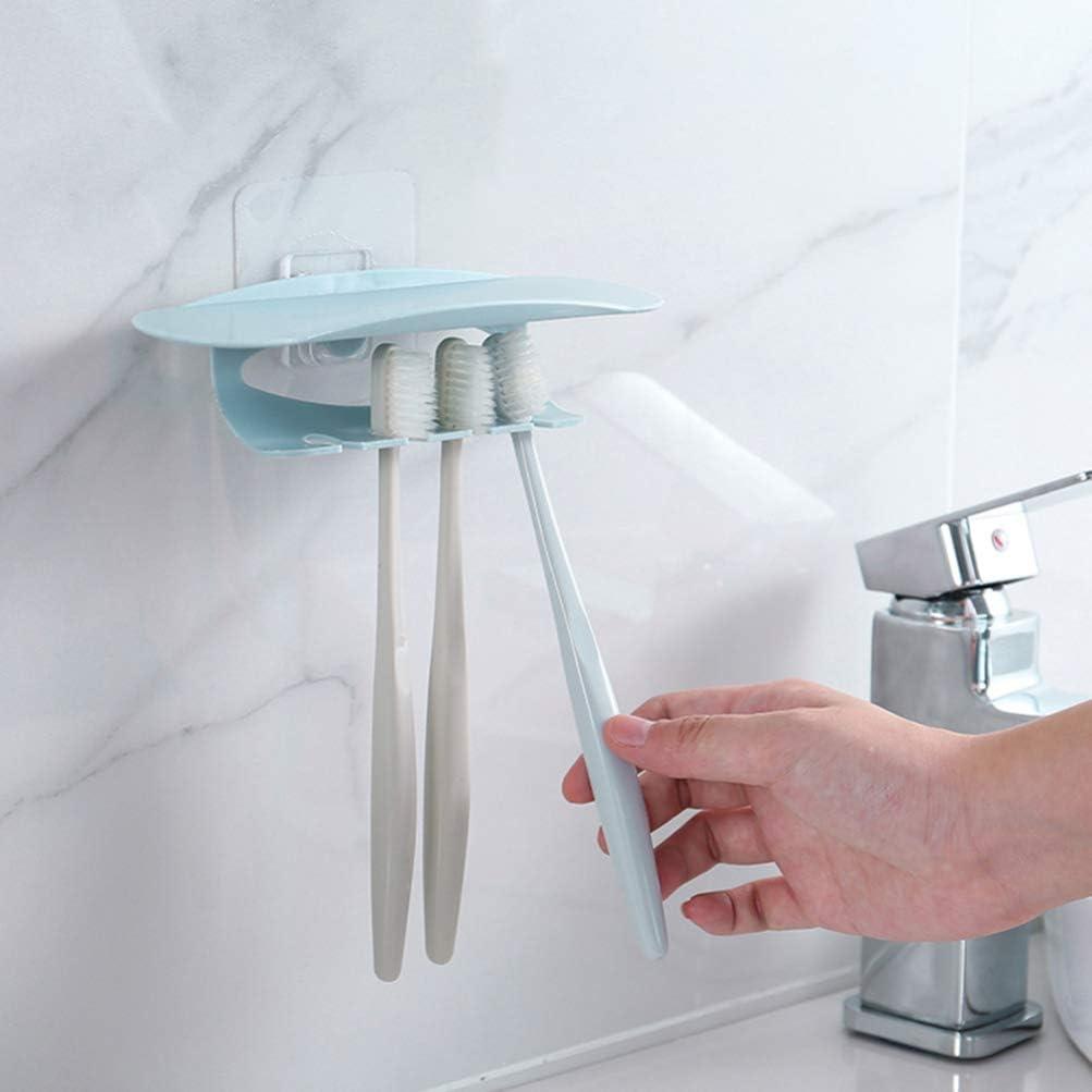 Blu Nordico TOPBATHY Supporto a Parete Ventosa Spazzolino Porta Dentifricio Spazzolino da Denti Display Bagno Organizzatore Multifunzione