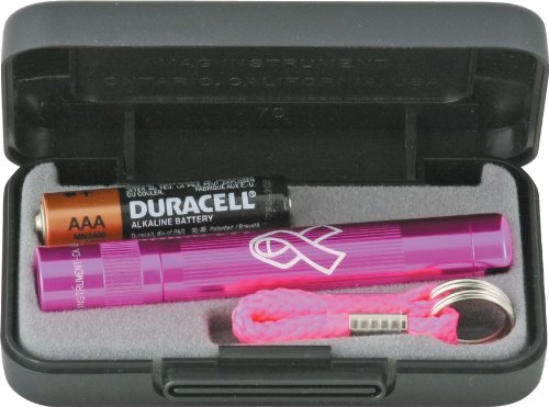 Maglite Solitaire Incandescent 1-Cell AAA National Breast Cancer Foundation Flashlight in Presentation Box - Solitaire Gift Box