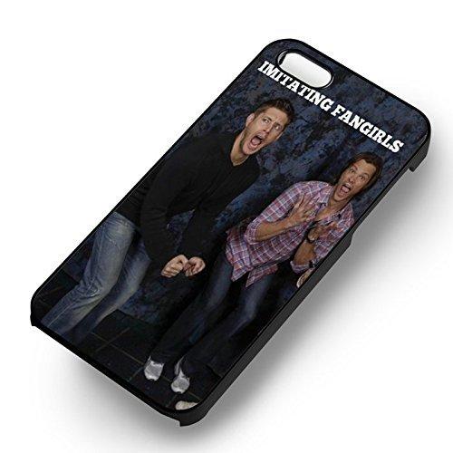 Supernatural Winchester Funny Moment pour Coque Iphone 6 et Coque Iphone 6s Case (Noir Boîtier en plastique dur) R1Y5IT