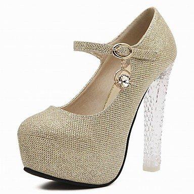 Plateforme Eté Talons Argent 12 Or amp; Strass Synthétique Chaussures à ggx Gros gold Automne plus Femme cm Boucle LvYuan Talon wA4pq7q
