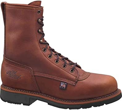 ded207fa534 Thorogood Men's Heritage Safety Work Boots Brown Leather Safety Toe 804-4821