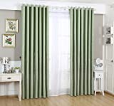 WPKIRA Window Treatment Printed Silver Stars and Castle Pattern Grommet or Eyelet Top Room Darkening Thermal Insulated Blackout Curtains Panel Drapes for Girl's Bedroom, 1 Panel Green W39 x L96 inch Review