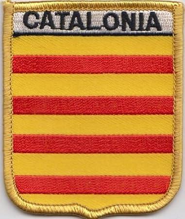 España Cataluña bandera parche bordado (A438): Amazon.es: Jardín