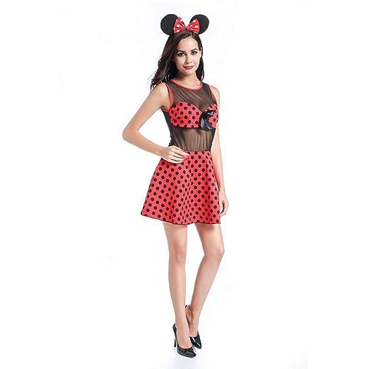 Disfraz de Cosplay de Halloween, Lunares Rojo Minnie Mickey Juega ...