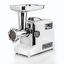 STX INTERNATIONAL Megaforce Model STX-3000-MF Patented Air Cooled Electric Meat Grinder, 3 Cutting Blades, 3 Grinding Plates, Kubbe and 3 Sausage Stuffing Tubes