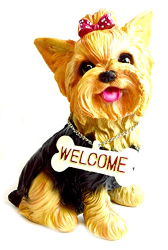 Large Puppy Welcome Yorkieshire Yorki Terrier Collectible...