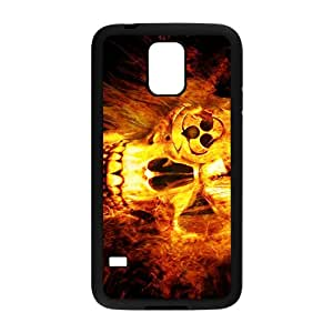 Fire Skull Pattern Hot Seller High Quality Case Cove For Samsung Galaxy S5