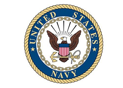 - USN US Navy Sticker United States Military Emblem Seal Emblem Auto Car Decal Window Bumper Sticker Sailor (3
