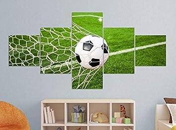BILD LEINWAND BILDER  FUßBALL TOR SPORT XXL FERTIG AUFGESPANNT KUNSTDRUCK