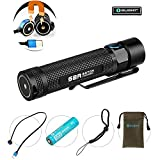 Bundle: olight s2r rechargeable flashlight for edc camping cree led 1020 lumen power by 18650...