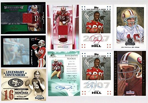 SAN FRANCISCO 49ERS 30 CARD LOT JERRY RICE JOE MONTANA YOUNG AUTO JERSEY ROOKIE