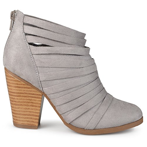 Image of Brinley Co Women's SEVI Ankle Boot, Grey, 6.5 Regular US