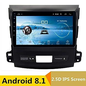Reproductor Multimedia de 9 Pulgadas 2,5D IPS Android 8.1 para Coche DVD GPS para Mitsubishi Outlander 2006-2012 / Peugeot 4007 Radio estéreo de navegación: ...