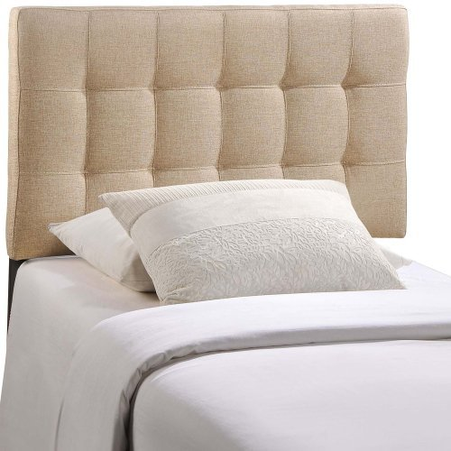 Modway Lily Upholstered Tufted Fabric Headboard Twin Size In (Bedroom Upholstered Headboard)