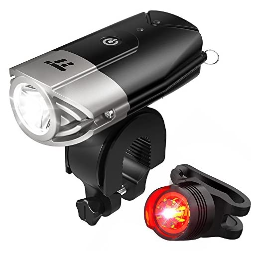TaoTronics-TT-HP007-LED-Bike-Lights-Front-Back-700-Lumens-Bicycle-Lights-Rechargeable-Bike-Light-Set-Bike-Headlight-IP65-Waterproof-Cree-LED-Free-Tail-Light-Helmet-Mount-Include