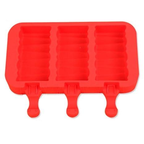 Moldes para poleas para hielo, silicona, molde para helado congelado reutilizable de YooGer con
