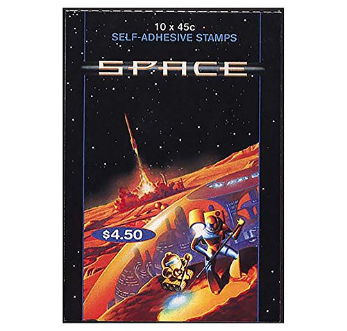 2000 Space Australian Stamp Booklet 10 x 45c Stamps