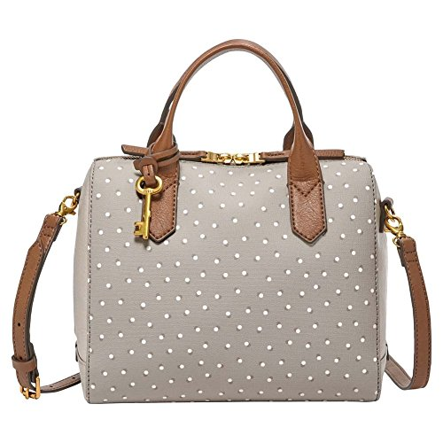 nbsp; Fossil White Damentasche Satchel Fiona Cartables Grey Gris F1PwqFC