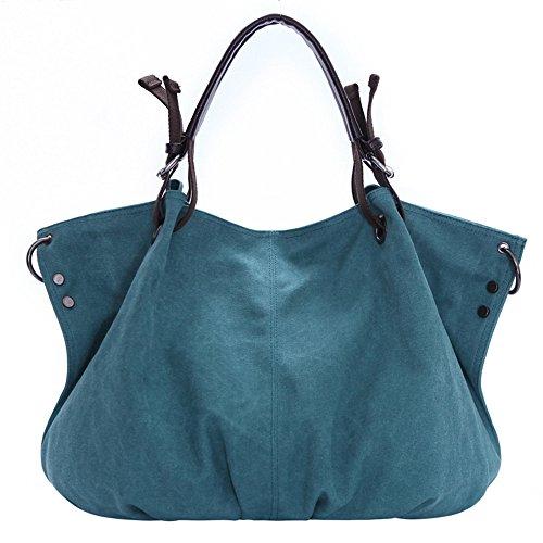 Khaki Bolso Marrón de LQT de azul kaki la de Hecho mujer para mano lona marca 1 0039 FBG OPOqrCwBx
