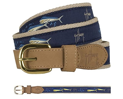 Guy Harvey Dolphin and Flying Fish Belt - Size 38