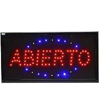 Letrero cartel Panel LED abierto Cartel iluminacion negocio