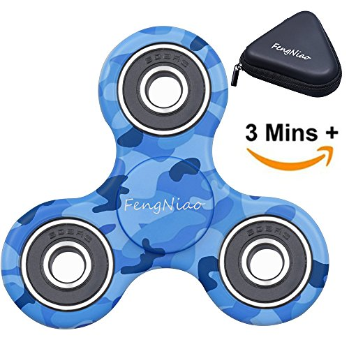Tri-Spinner Fidget Toy 3D Printing Ceramic with Premium Quality EDC Focus Toy for Kids & Adults (Cadet Blue)