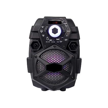 15W Altavoz Bluetooth Tarjeta Altavoz Multifunción Ordenador Portátil Pequeño Sonido Altavoz Portátil Alta Potencia Subwoofer WUHX