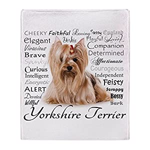 "CafePress Yorkie Traits Soft Fleece Throw Blanket, 50""x60"" Stadium Blanket 39"