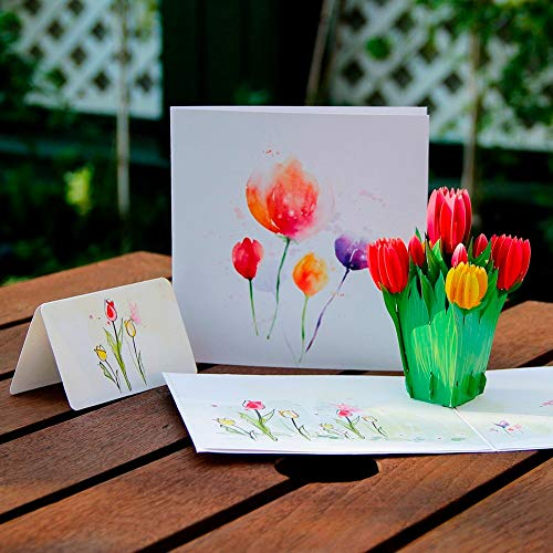Cards Invitations - Szs Mother 39 S Day Creative 3d Greeting Card Handmade Holiday Wishes Thanksgiving Tulip - New Design Border 3d 3d Up Love Mom Flower Artificial Birthday New -