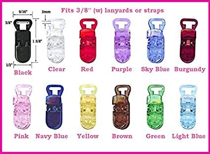 10 pcs T-Style Plastic Clips for Name Badge Memo Card ID Tag Baby Pacifier Bib