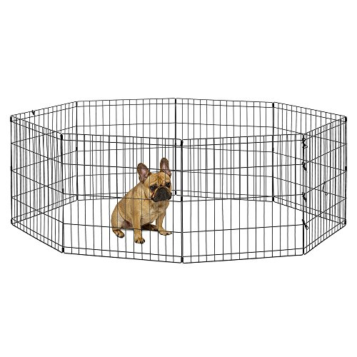 Stable Dog House - New World Pet Products B550-24 Foldable Exercise Pet Playpen, Black, Small/24